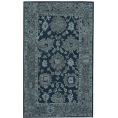 PB Teen Vintage Indigo Rug, 5x8 ($250) ❤ liked on Polyvore featuring home, rugs, pbteen, patterned rugs, woven area rugs, synthetic area rugs and colored rugs