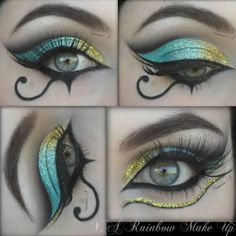 15 totally cool Halloween make-up ideas - makeup instructions - . - 15 totally cool Halloween make-up ideas – makeup instructions – - Cleopatra Makeup, Egyptian Makeup, Makeup Art, Makeup Tips, Makeup Ideas, Face Makeup, Makeup Geek, Makeup Inspo, Makeup Emoji