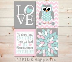 First We Had Each Other Floral burst nursery by HollyPopDesigns