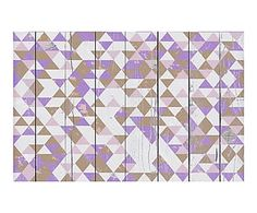 Alfombra vin lica chevron celeste 65x100 cm mosaicos - Alfombras dibujos geometricos ...