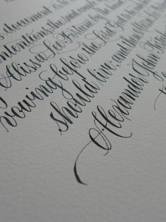 calligraphy - love this A