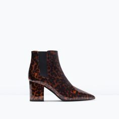 ZARA - COLLECTION SS15 - SHINY LEOPARD HIGH HEELED BOOTIES