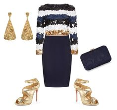 """""""Untitled #145"""" by magscook ❤ liked on Polyvore featuring Reiss, Sonia Rykiel, Christian Louboutin, Bavna and Accessorize"""