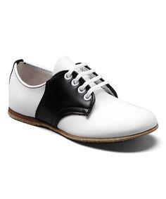 954828a14e59 Kepner Scott White   Black Buster Leather Saddle Shoe