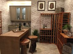Wine room at a model home at The Isles Of Collier Preserve Naples Florida Naples Florida, Model Homes, Real Estate Marketing, Preserve, Design Trends, New Homes, Wine, Table, Room
