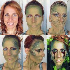 #snakemakeup #swampthingmakeup #lizzardmakeup  #tutorial created by Amy Clarke #theamyclarke #halloweenmakeup @theamyclarke   #costumeideas