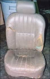 How to Reupholster Car Seats I am sure I will be happy I pinned this one day!!