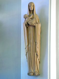 These statues are in the chapel at Villa Notre Dame, which was completed in 1961, in Wilton, Conn.