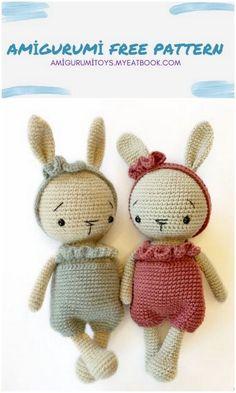 Crochet Amigurumi Free Patterns, Crochet Dolls, Free Crochet, Knit Crochet, Easter Crochet, Crochet Crafts, Knitting Projects, Crochet Projects, Yarn Tail