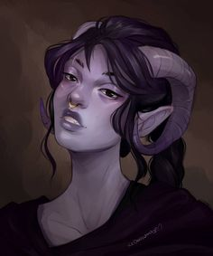 the prettiest tiefling commission for @/hairdressica on Instagram!