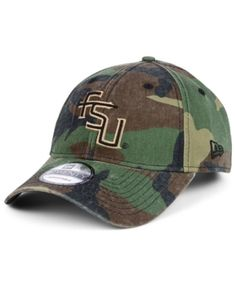 release date 5f4a6 6e831 New Era Florida State Seminoles Woodland Classic Twill 9TWENTY Strapback  Cap - Green Adjustable