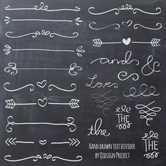 Hand drawn doodle text divider, swirly clip art on chalk styles for your creative creation. You can create invitations, brochures, flyers,