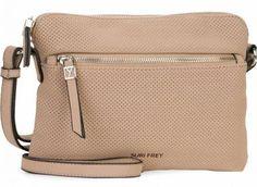 !!!perforierte Umhängetasche Suri Frey Romy Hetty Taupe beige Suri Frey, Taupe, Kate Spade, Bags, Fashion, Dime Bags, Artificial Leather, Sachets, Beige