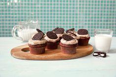 Oreomuffins Oreos, Mini Cupcakes, Panna Cotta, Muffins, Plates, Breakfast, Ethnic Recipes, Desserts, Food