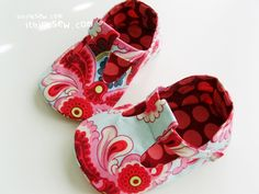 Jordan T-Strap Baby Shoes by I Think Sew     Adorable!