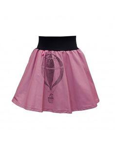 Gina - starorůžová půlkolová sukně Balón