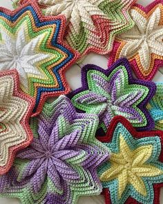 NEW SCK1023 - Scrap Mats & Coaster Set This pattern set evolved after most of the variegated thread used in my original version were discontinued within the first year of publication. This SC-in-BLO ripple design just MADE for variegated threads or yarns! In setting out to find new color combinations, I explored the Lizbeth size 3 shades. So lovely! Buy your copy here: http://www.maggiescrochet.com/products/scrap-mats-coasters-set