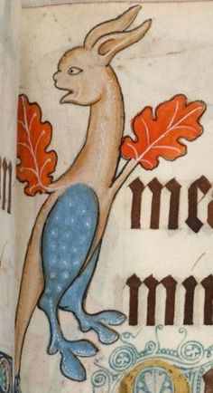 Detail from The Luttrell Psalter, British Library Add MS 42130 (medieval manuscript,1325-1340), f83r