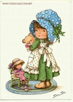 mary may - Sarah Kay, Cute Images, Cute Pictures, Mary May, Cross Stitch For Kids, Holly Hobbie, Christmas Scenes, Cute Illustration, Big Eyes
