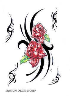 I like the two roses as they are with the black art work. Would need to find a way to incorporate kids names and dob