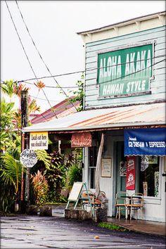 Aloha Akaka, great weathered storefront.