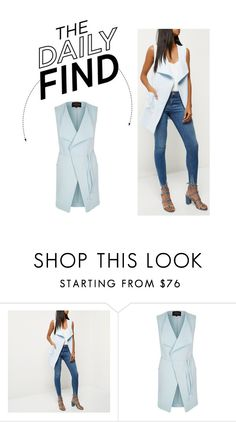 """The Daily Find: River Island Sleeveless Jacket"" by polyvore-editorial ❤ liked on Polyvore featuring DailyFind"