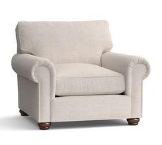 Webster Upholstered Armchair #potterybarn
