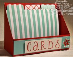 A card file folder using Stampin' Up's new File Tabs Edgelits Dies