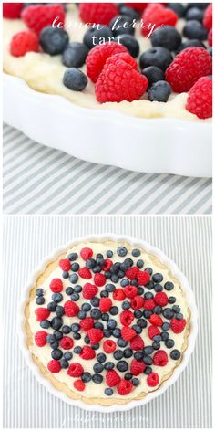 Beautiful berry tart on a sugar cookie crust