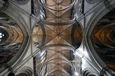 Isn't that a great view of the ceiling?  Salisbury Cathedral ceiling view by @Bob Borson