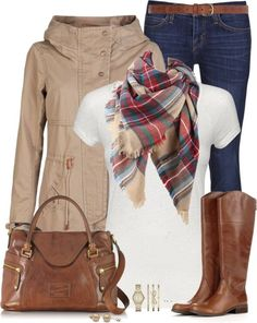 Classic fall outfit... Love the boots and bag