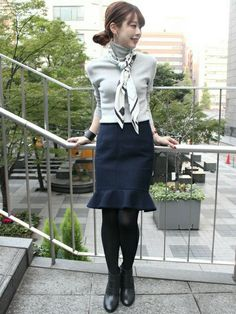Noble 日本橋店   AYAスカート「Spick and Span Noble ペプラム タイトスカート◆」Styling looks