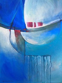 """Contemporary Artists of California: Contemporary Abstract Painting """"Ocean Moods"""" by California Artist B. Marks"""