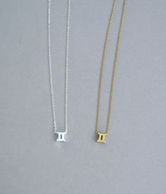 Zodiac Gemini Necklace in Silver Plated or by ConniesJewelryShop