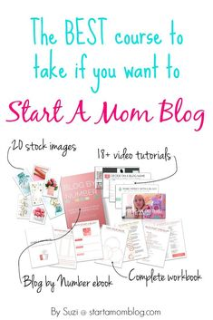 """[AD] Suzi's Blog By Number course delivers exactly what it promises. If you put in the work and follow the lessons, you're sure to come out with a beautiful """"blog baby"""" by the end of the course. Make Money Blogging, Make Money Online, How To Make Money, Blogging Ideas, Creating A Blog, Business Tips, Online Business, Blogging For Beginners, Online Jobs"""