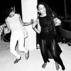 Lisa Bonet & Zoe Kravitz dancing at Lenny 's Birthday Bash in Miami. Yes, Lenny Kravitz just turned 50. May 2014 - Photo: Mathieu Bitton