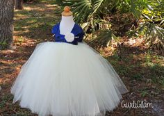 Navy Flower Girl Dress, Simply Navy Flower Girl Tutu Dress by Gurliglam