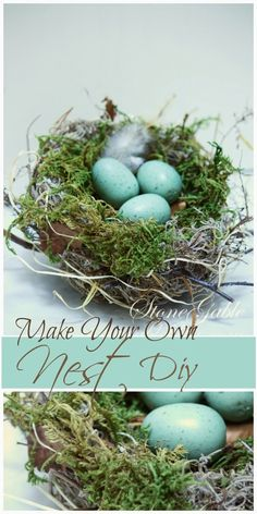 New bird nest diy crafts ideas Bird Crafts, Easter Crafts, Easter Decor, Bird Nest Craft, Spring Decoration, Pot Pourri, Seasonal Decor, Holiday Decor, Diy Cans