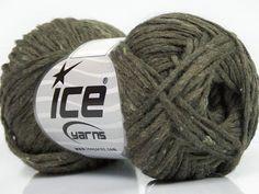 Fiber Content 9% Polyamide 9% Viscose 35% Acrylic 25% Wool 20% Alpaca 2% Silk Khaki Brand ICE fnt2-40323