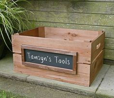 Trug Billingsgate Market Crate Small Box Vintage Antiqued Wooden Box