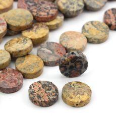 Gładkie krążki / monetki naturalnego jaspisu leopard skin / skóra leopardzia. Mineral Stone, Minerals, Jewlery, Swarovski, Stones, Jewels, Rocks, Jewerly, Stone
