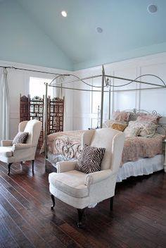 #homedecor #bedroom #aquablue #blue #shabbychic #french #frenchcountry #marieantoinette