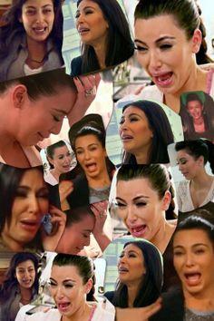 A collage of kim kardashian crying hahahaha pinterest - Kim kardashian crying collage ...