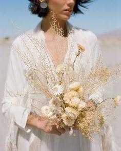 Garden Flowers Dried Textural Bouquet For Desert Wedding Dried Flower Bouquet, Flower Bouquet Wedding, Floral Wedding, Wedding Day, Boquet, Bride Bouquets, Floral Bouquets, Carpe Diem, Southwestern Wedding