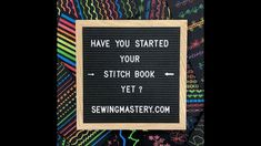 Stitch Book, Janome, Letter Board, Singer, Lettering, Embroidery, Sewing, Create, Books