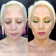 """And just for fun before I go and burn the midnight oil, here's a BEFORE & AFTER photo of the #tinkerbell #makeup transformation I did earlier! See what…"""