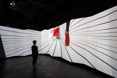 Under Armour installation by HUSH, Shanghai – China Museum Exhibition, Exhibition Space, Interactive Exhibition, Display Design, Wall Design, Vikings, Under Armour, Architectural Scale, Projection Mapping