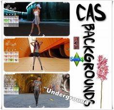 "Annett`s Sims 4 Welt: CAS Backgrounds ""Underground"" • Sims 4 Downloads"