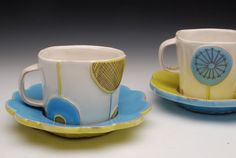 monday morning eye candy: Kari Radasch ~ Guest Post by Ceramic Artists Now Pottery Tools, Slab Pottery, Pottery Mugs, Pottery Art, Ceramic Decor, Ceramic Cups, Biscuit, Pottery Lessons, China Clay