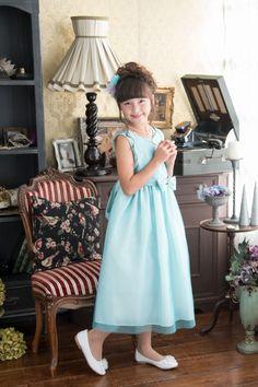 子供ドレス ピアノ発表会ドレス 1-322(140cm)ターコイズ
